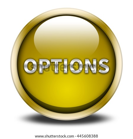 options button isolated. - stock photo