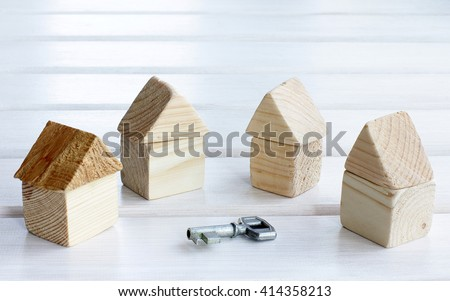 options for the set of houses and a symbolic key/choice of house turnkey