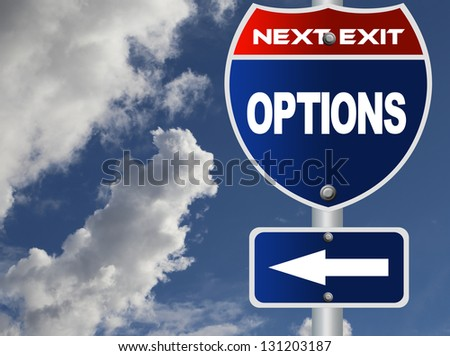 Options road sign