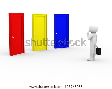 Options - This is a 3d render illustration - stock photo
