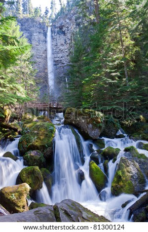 OR-Rogue-Umpqua Scenic Byway-Umpqua National Forest-A challenging hike to Watson Falls , brought us to one of the more spectacular falls on this Scenic Byway.