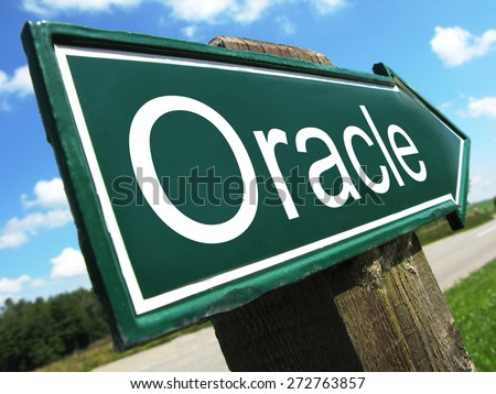 Oracle road sign