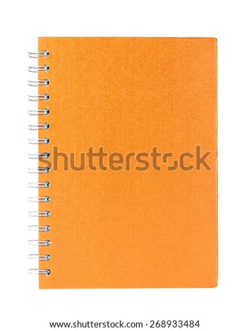 orang book on a white background