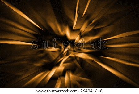 Orange Abstract - stock photo