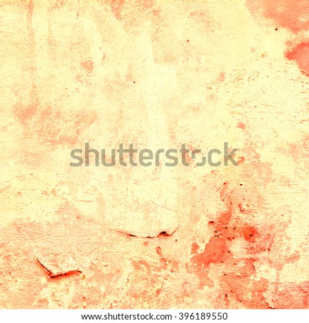 orange abstract background texture old cement wall
