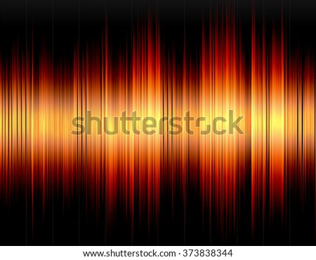 Orange abstract digital sound wave on a black background. - stock photo
