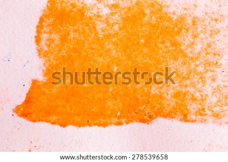 Orange abstract watercolor macro texture background. Colorful handmade technique aquarelle. - stock photo