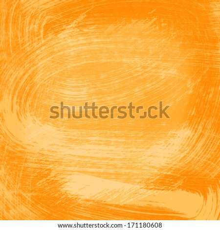 Orange abstract watercolor texture background - stock photo