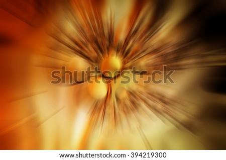 orange abstraction - stock photo