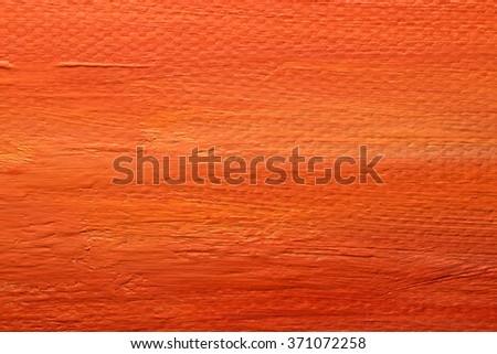 orange acrylic paint texture macro - stock photo