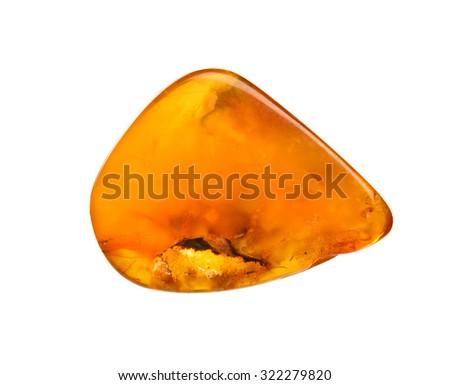 orange amber with organics - stock photo