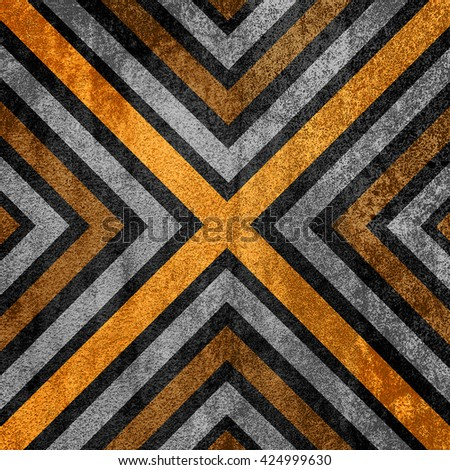 Orange and black abstract old background texture with X pattern. - stock photo