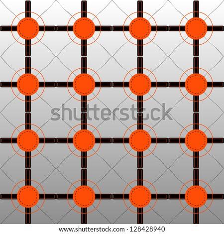 Orange and Black Pattern on Graded Background - stock photo