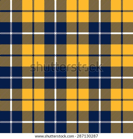 orange and blue  tartan fabric texture in a square pattern seamless