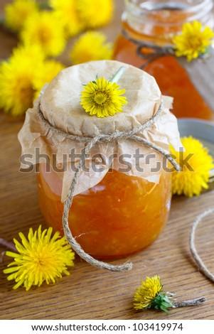 Orange and cardamom jam - stock photo