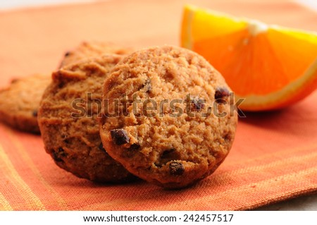 Orange and chocolate cooikes