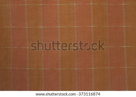 Orange and pink fabric texture - stock photo