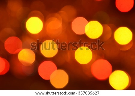 Orange and red bokeh. The background with boke. Abstract texture. Color circles.