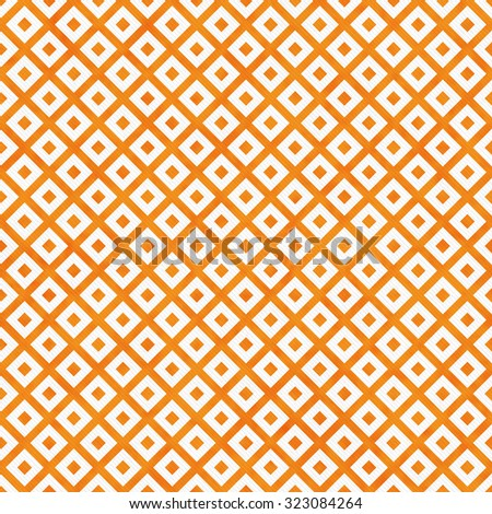 Orange and White Diagonal Squares Tiles Pattern Repeat Background that is seamless and repeats - stock photo