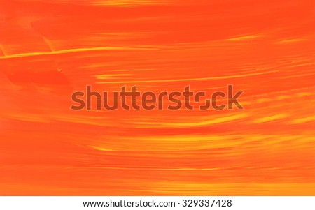 Orange and yellow acrylic background. Acrylic paint stain. Acrylic brush texture. Colorful template. Scrapbook elements, web page, printing. Brush strokes.  - stock photo