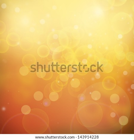 Orange and Yellow Background Bokeh and out of focus lights - stock photo