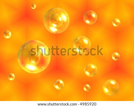 orange and yellow background with bubbles