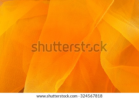 Orange and yellow ombre textile background - stock photo