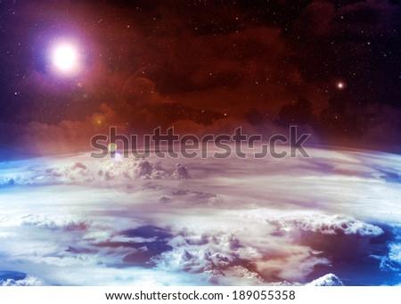 Orange Atmosphere - - stock photo