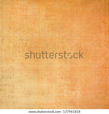 orange background linen canvas texture brush strokes, abstract beige background brown warm color tone soft faded vintage grunge background texture layout brown paper wallpaper or wall elegant brochure - stock photo