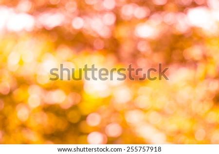 Orange Bokeh texture or background. - stock photo