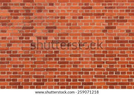 Orange Brick Wall - stock photo