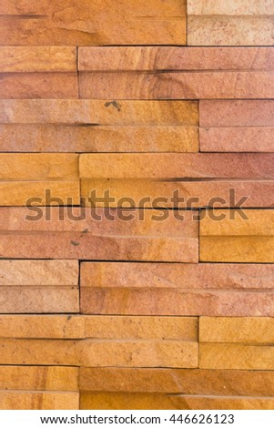 Orange brick wall surface texture background