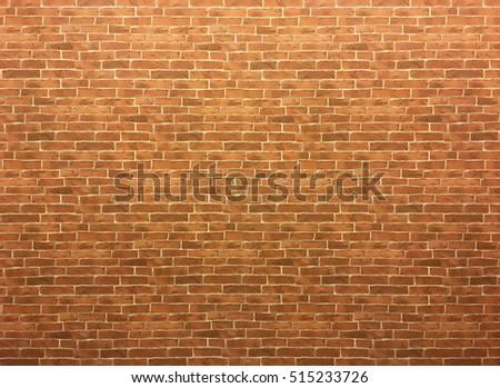 Orange Brick Wallpaper Stock Photo Safe To Use 515233726
