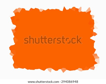 Orange bright background abstract with reflection