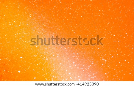 Orange Bubble Background with shimmer effect abstract effect/ PowerPoint background - stock photo