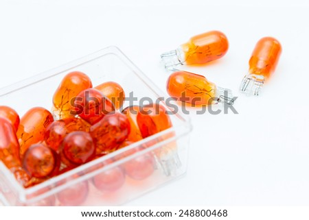 Orange Bulbs - stock photo