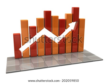 Orange business graph