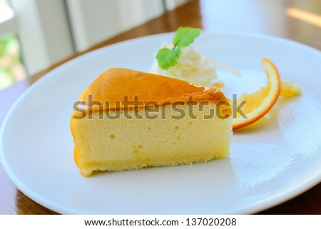 Orange cake, bird eye views