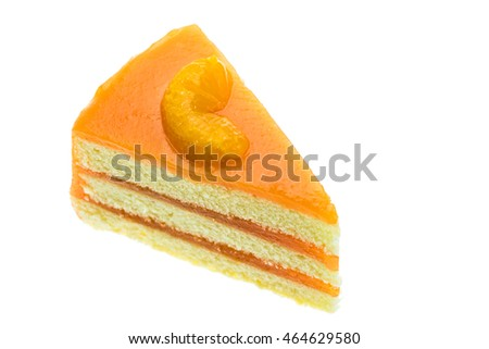 Orange cakes isolated on white background