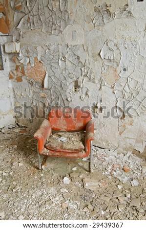 Orange Chair - stock photo