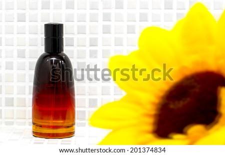 Orange Chilli Perfume Bottle - stock photo