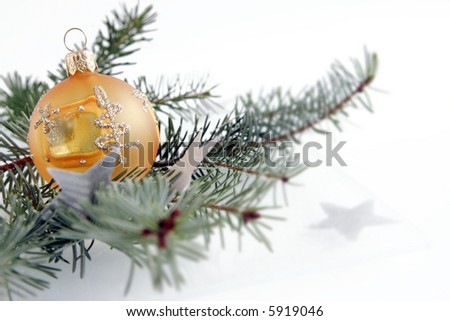 Orange christmas ball. Christmas decoration