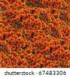 orange chrysanthemum bunch seamless background pattern - stock photo