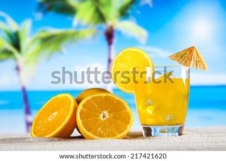 Orange cocktail drink  - stock photo