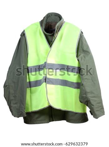 Orange Construction Vest On White Background