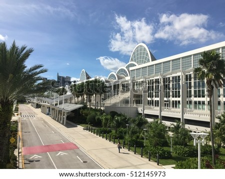 Orange County Convention Center - International Drive - Orlando, Florida - October 8, 2016 sunny day right before a Jeunesse Global Expo event to promote company growth and new product line.