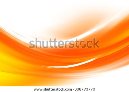 Orange Curved Abstract Background