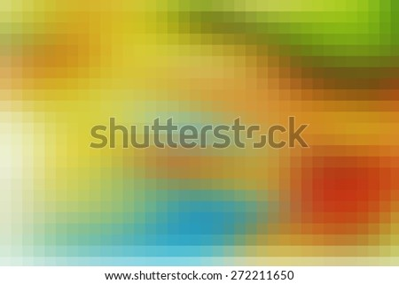orange digitally generated image of colorful black background with beautiful square pattern texture mosaic filter  - stock photo