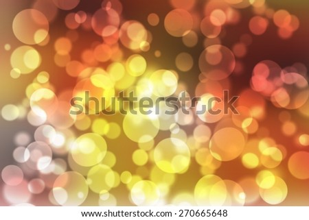 orange digitally generated image of colorful black background with beautiful twinkling bokeh - stock photo