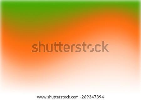 orange digitally generated image of colorful black background with white border - stock photo